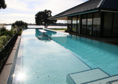Ground Swimming Pool with Shelf Area