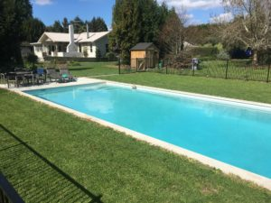 Coatsville Swimming Pool NZ Surrounded With Grass
