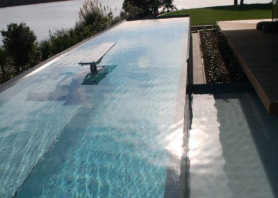 Grecian White Hydrazzo Swimming Pool