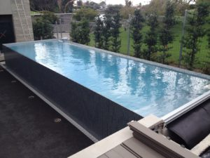 Parnell Above Ground Pools Showing Below Deck Cover System