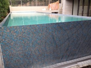 Parnell Above Ground Pools With Walls Finished with Mosaic Tiles