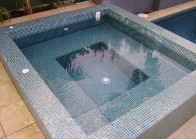Spa Pool Fully Tiled with Mosaic Tiles
