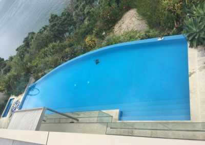 Takapuna Fully Tiled Weir Edge Swimming pool