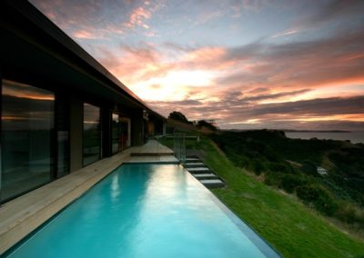 Waiheke above ground with pool wall as pool fence