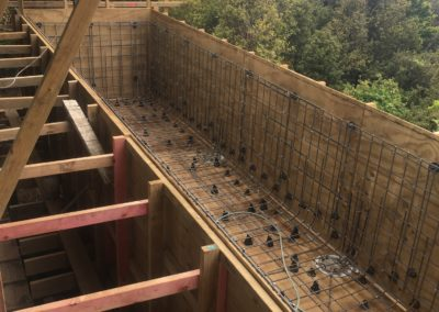 Waiheke Swimming Pool Form Work and Steel Structural Reinforcing