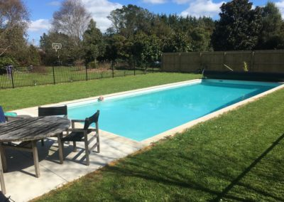 Waitoki pool finished in Grecian white hydrazzo