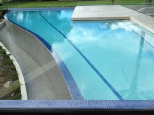 Weir Edge Swimming Pool Showing Weir Catchment Tank Detail